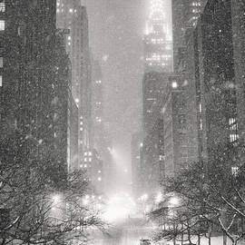 Vivienne Gucwa - New York City - Winter Night Overlooking the Chrysler Building