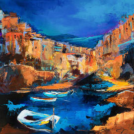 Elise Palmigiani - Night Colors Over Riomaggiore - Cinque Terre