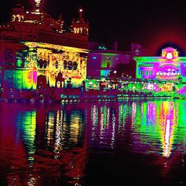 Anand Swaroop Manchiraju - Night Reflections At Golden Temple