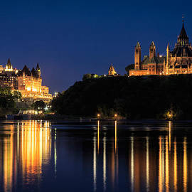 Levin Rodriguez - Night view of Parliament Hill From the Ottawa River