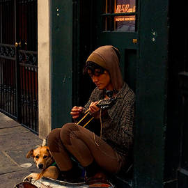 Kathleen K Parker - Nighttime Street Musician