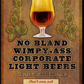 R christopher Vest - No Bland Beer Served Here Poster