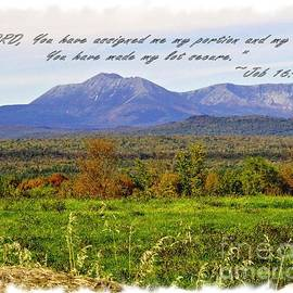 Victoria  Dauphinee - Northern Maine Mountains with Job 16 5 Verse