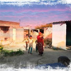 Sue Jacobi - Nosy Neighbors Indian Village Rajasthan 2