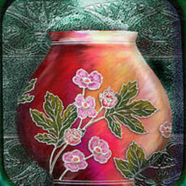 Rosy Hall - Nouveau Deco Vases horizontal triptych