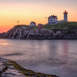At Lands End Photography - Nubble Lighthouse Before Sunrise - Panorama