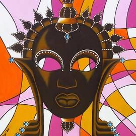 Joseph Sonday - Nubian Modern Mask with Pink