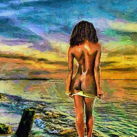 Tyler Robbins - Nude Bather at Sunset