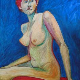 Esther Newman-Cohen - Nude in Red and Blue