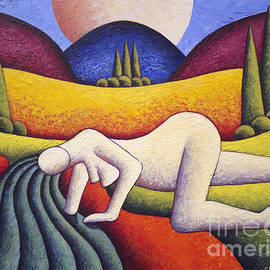 Alan Kenny - Nude In Soft Landscape With River 2 By Alankenny