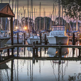 Brian Wallace - Oak Pt Harbor At Dusk
