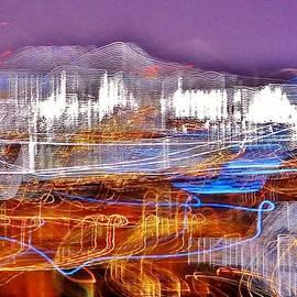 Kim Bemis - Ocean City by Night - Abstract Purple