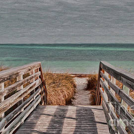 Deborah Benoit - Ocean Sand and Grass