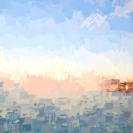Kerri Farley - Ocean Sunrise - Abstract