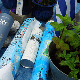 Colette V Hera  Guggenheim  - Oceon Water Bottle Post Between Santorini Island Greece And Samsoe Island Denmark