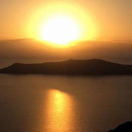 Colette V Hera  Guggenheim  - October Santorini Sun Set