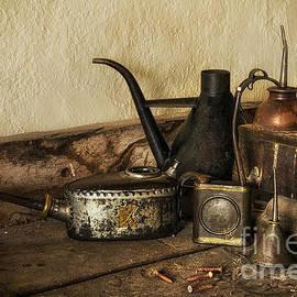Ann Garrett - Oil Cans on the Workbench