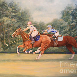 Roena King - Oil Painting - A Polo Match