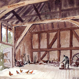 Bill Holkham - Old Barn At Amberley Sussex