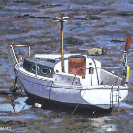 Martin Davey - Old Boat On River Mudflats 1