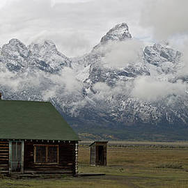 Gary Langley - Old Cabin in  Grand Tetons