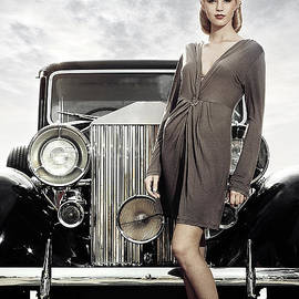 Ilya Lokalin - Old car and Young woman