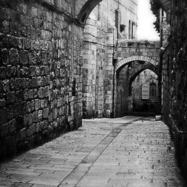 Michael Braham - Old City Street In Israel