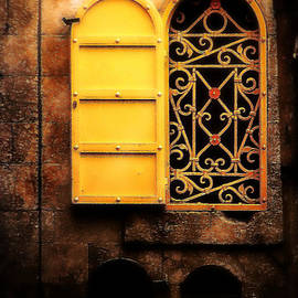 Michael Braham - Typical Old Yemenite Window in the Old City Jerusalem Israel