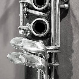 Photographic Arts And Design Studio - Old Clarinet Black and White Vertical