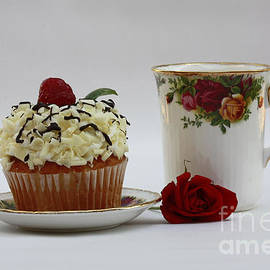 Inspired Nature Photography Fine Art Photography - Old Country Rose and Raspberry Cupcake Delight