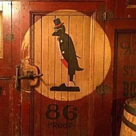Robert Stewart - Old Crow Ad On A Classic Cooler Door