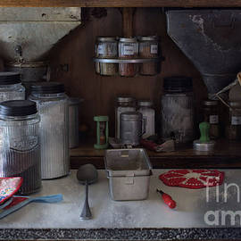 Liane Wright - Old Cupboard - Vintage Kitchen Items