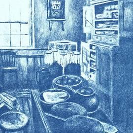 Kendall Kessler - Old Fashioned Kitchen in Blue