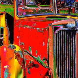 Phyllis Denton - Old Fire Truck Pop Art