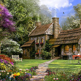 Old Flint Cottage - Fine Art
