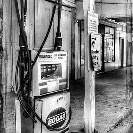 Kaye Menner - Old Fuel Pump - Black and White
