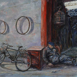 Xueling Zou - Old Man and His Bike