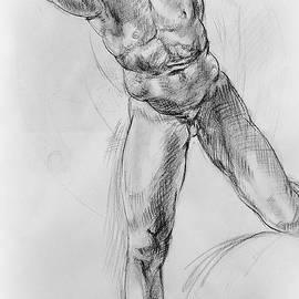 Irina Sztukowski - Old Masters Study Nude Man by Annibale Carracci