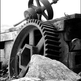 Sandi OReilly - Old Mill of Guilford Gears Black and White