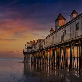 Susan Candelario - Old Orchard Beach Pier Sunset