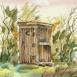 David Patrick - Old Out House with Trees
