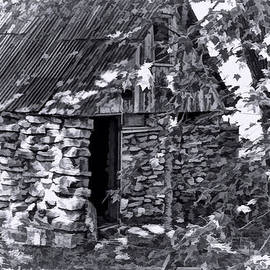Linda Phelps - Old Rock Cabin BW