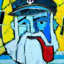Ana Maria Edulescu - Old Sailor With Pipe Expressionist Portrait