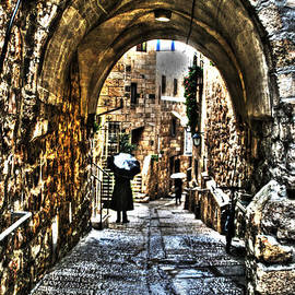 Michael Braham - Old Street in Jerusalem