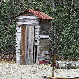 Al Powell Photography USA - Old time Outhouse and Pitcher Pump