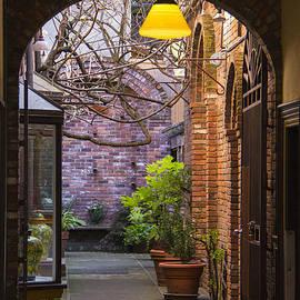 Ben and Raisa Gertsberg - Old Town Courtyard In Victoria British Columbia