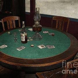 Janice Rae Pariza - Old Western Poker Table