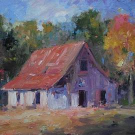 R W Goetting - Old white barn