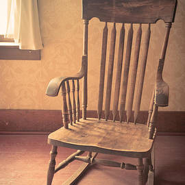 Edward Fielding - Old wooden rocking chair