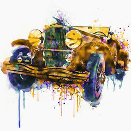 Marian Voicu - Oldtimer Automobile in watercolor
